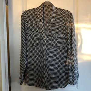 Express Portofino dress shirt, b & w, size L